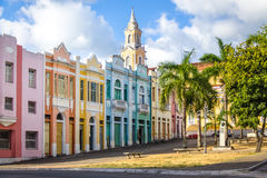 Colorful houses of Antenor Navarro Square at historic Center of Joao Pessoa - Joao Pessoa, Paraiba, Brazil Royalty Free Stock Photo