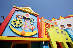 Colorful houses architecture Stock Photos