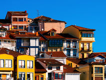 Colorful houses in Bermeo Royalty Free Stock Images