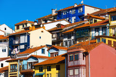 Colorful houses in Bermeo Royalty Free Stock Photography