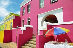 Colorful houses of Bo Kaap Stock Image
