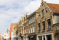 Colorful houses in Bruges Royalty Free Stock Photo