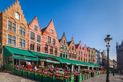Colorful houses, Bruges, Belgium Stock Photography