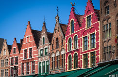Colorful houses of Bruges, Belgium Royalty Free Stock Photography