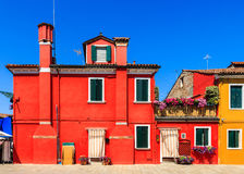Colorful houses and buildings Stock Images