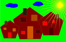 Colorful Houses Buildings Royalty Free Stock Image