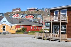 Colorful houses, buildings in Qaqortoq, Greenland Royalty Free Stock Photo