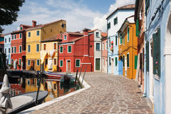 Colorful Houses of Burano Royalty Free Stock Photos