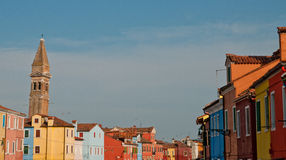 Colorful houses in Burano Stock Photos