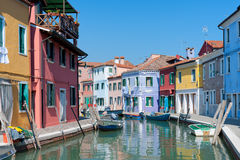 Colorful  houses in Burano Royalty Free Stock Photo