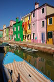 Colorful Houses at Burano Stock Image