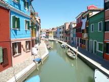 Colorful houses in Burano Stock Photography