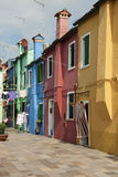 Colorful houses in Burano Royalty Free Stock Photography