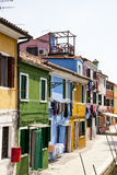 Colorful houses at Burano island Stock Images