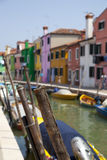 Colorful houses at Burano island Royalty Free Stock Photography