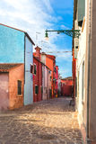Colorful houses in Burano island near Venice, Italy. Colorful, houses, Burano, island, Venice, Italy Royalty Free Stock Photo