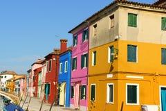 Colorful houses on Burano Island, Venice Royalty Free Stock Image