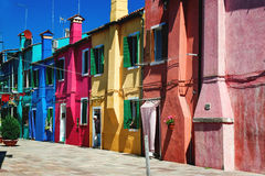 Colorful houses on Burano Stock Images