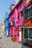 Colorful houses Burano. Italy Stock Photos