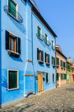 Colorful houses Burano. Italy Royalty Free Stock Photos