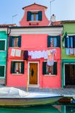 Colorful houses Burano. Italy Stock Photo