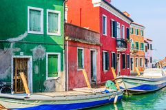Colorful houses Burano. Italy Royalty Free Stock Photo