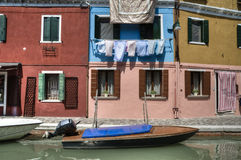 Colorful houses in Burano Italy Royalty Free Stock Photo