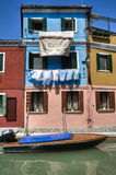 Colorful houses in Burano Italy Stock Photo