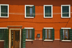 Colorful houses in Burano Italy Stock Photos