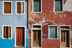 Colorful houses, Burano, Italy Stock Photography