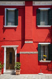 Colorful houses, Burano, Italy Royalty Free Stock Photography