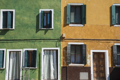 Colorful houses in Burano, Italy Stock Photography