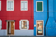 Colorful houses in Burano, Italy Stock Photos