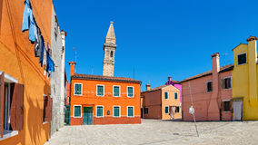 Colorful houses of Burano, Italy. Royalty Free Stock Photos