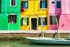 Colorful houses in Burano near Venice, Italy Royalty Free Stock Photos