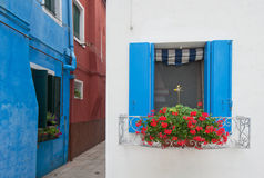 Colorful houses of Burano, Venice, Italy. Colorful bright houses of Burano, Venice, Italy royalty free stock images
