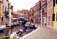 Colorful houses in Burano, Venice - Italy Stock Photography