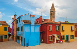 Colorful houses of Burano, Venice, Italy Royalty Free Stock Photography