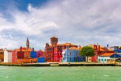 Colorful houses on the Burano, Venice, Italy Stock Image