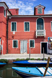 Colorful houses in Burano, Venice Italy Stock Images
