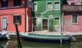 Colorful houses in Burano, Venice Italy Royalty Free Stock Images