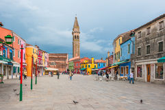 Colorful houses of Burano, Venice, Italy Royalty Free Stock Photos