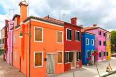 Colorful houses on the Burano, Venice, Italy Stock Images