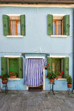 Colorful houses of Burano Venice Stock Photo