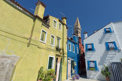 Colorful houses of Burano Venice Royalty Free Stock Images