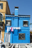 Colorful houses of Burano Venice Royalty Free Stock Photography