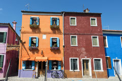 Colorful houses of Burano Venice Royalty Free Stock Image