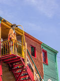 Colorful houses in caminito street of la Boca in Buenos Aires Royalty Free Stock Images
