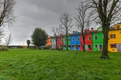 Burano - Venice, Italy. Colorful houses and canals of the island of Burano in Venice, Italy Stock Image