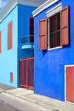 Colorful houses in Caribbean Stock Photo